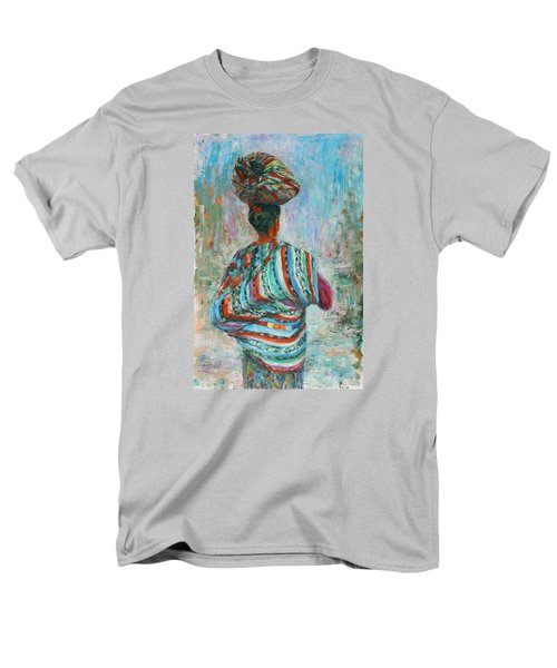 Men's T-Shirt  (Regular Fit) featuring the painting Guatemala Impression I by Xueling Zou