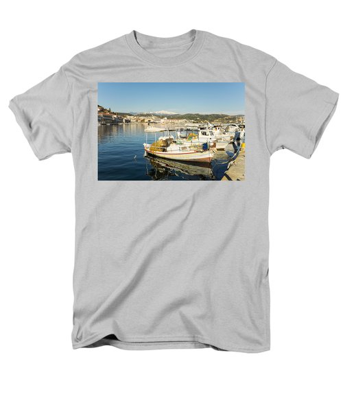 Gytheion Harbour Men's T-Shirt  (Regular Fit) by Mike Santis
