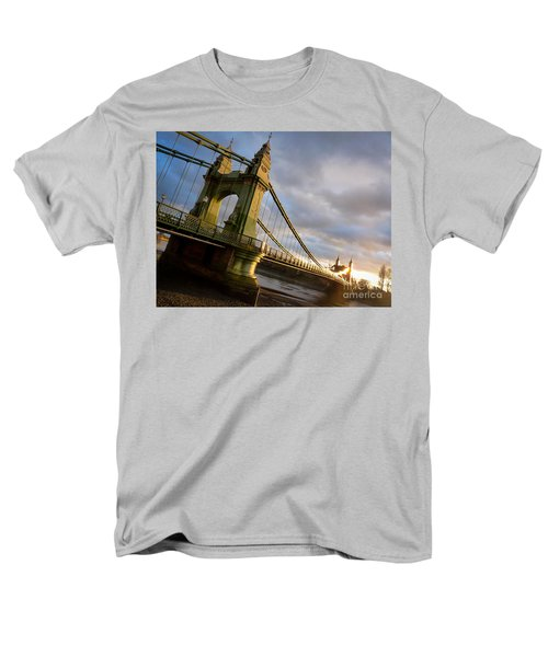 Men's T-Shirt  (Regular Fit) featuring the photograph Hammersmith Bridge In London by Peta Thames