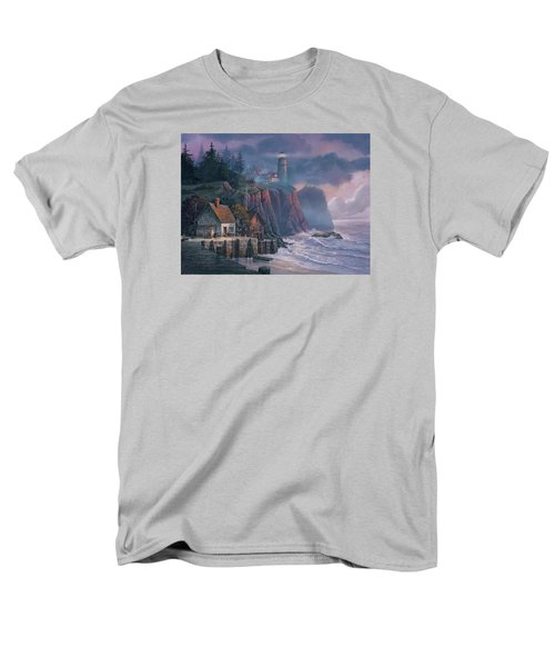 Harbor Light Hideaway Men's T-Shirt  (Regular Fit) by Michael Humphries