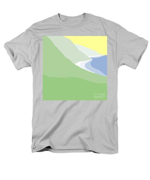 Hazy Coastline Men's T-Shirt  (Regular Fit) by Henry Manning