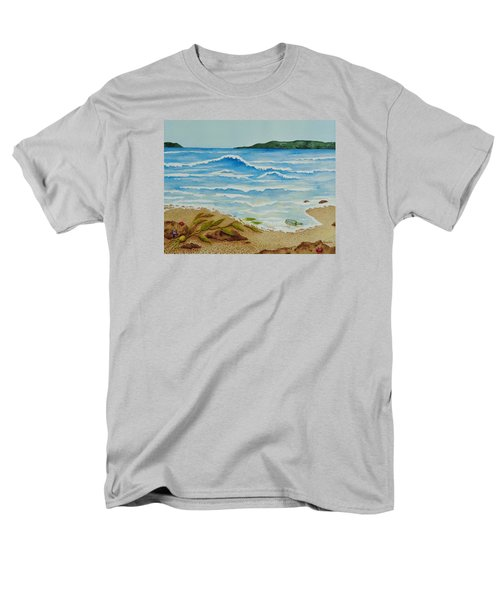 Men's T-Shirt  (Regular Fit) featuring the painting Hello? by Katherine Young-Beck