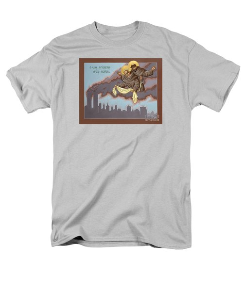 Men's T-Shirt  (Regular Fit) featuring the painting Holy Passion Bearer Mychal Judge 132 by William Hart McNichols