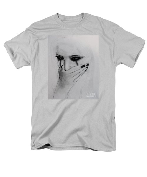 Men's T-Shirt  (Regular Fit) featuring the drawing Hurt by Michael Cross
