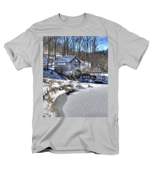 Men's T-Shirt  (Regular Fit) featuring the photograph Hyde's  Mill In The Winter by Janice Adomeit