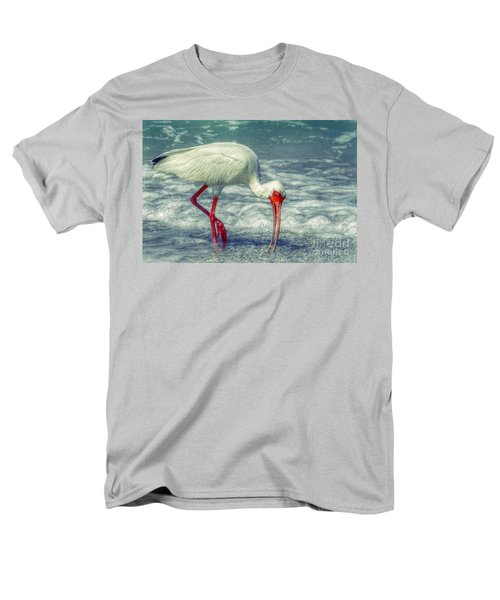 Ibis Feeding Men's T-Shirt  (Regular Fit) by Valerie Reeves
