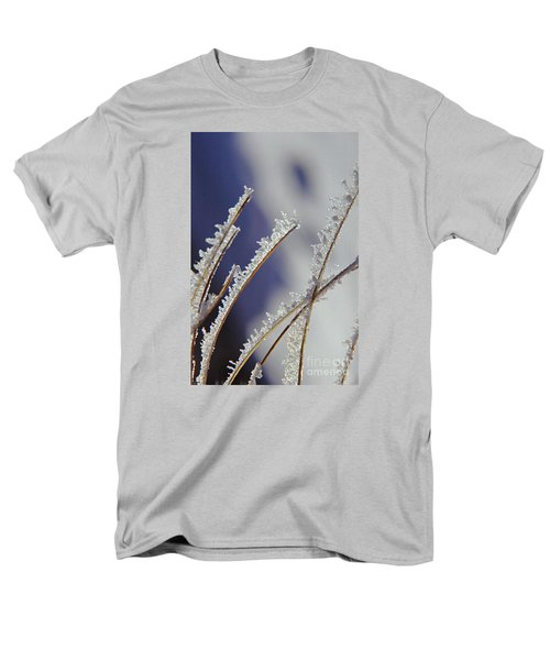 Men's T-Shirt  (Regular Fit) featuring the photograph Ice Crystals On Fireweed Fairbanks  Alaska By Pat Hathaway 1969 by California Views Mr Pat Hathaway Archives