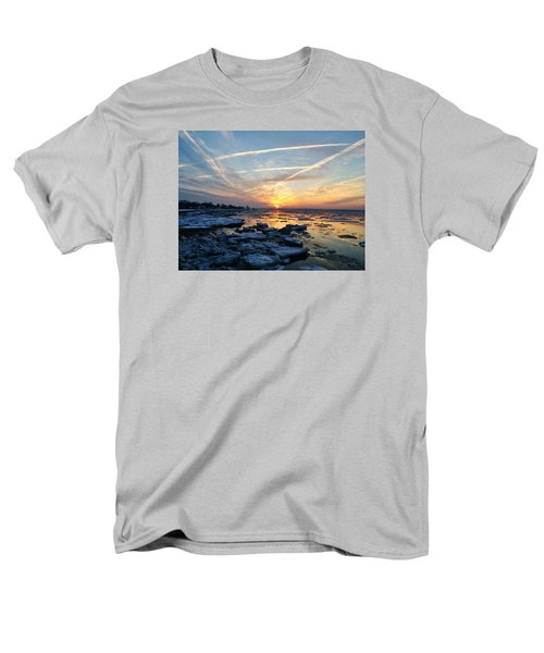 Ice On The Delaware River Men's T-Shirt  (Regular Fit) by Ed Sweeney