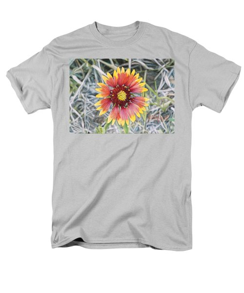 Men's T-Shirt  (Regular Fit) featuring the painting Indian Blanket by Joshua Martin