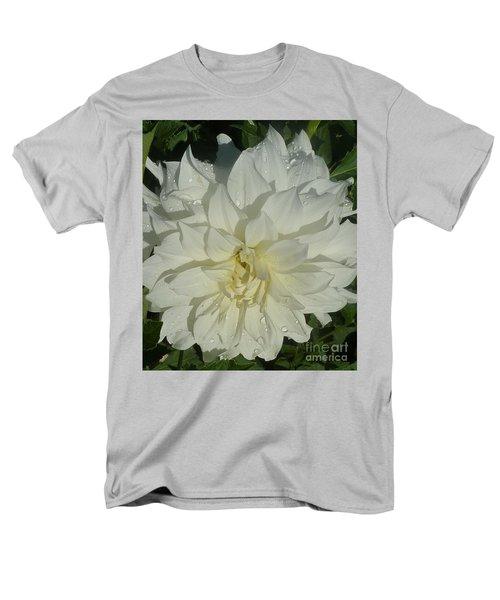Men's T-Shirt  (Regular Fit) featuring the photograph Innocent White Dahlia  by Susan Garren