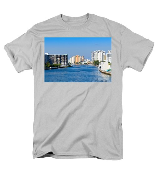 Intracoastal Waterway In Hollywood Florida Men's T-Shirt  (Regular Fit) by Les Palenik