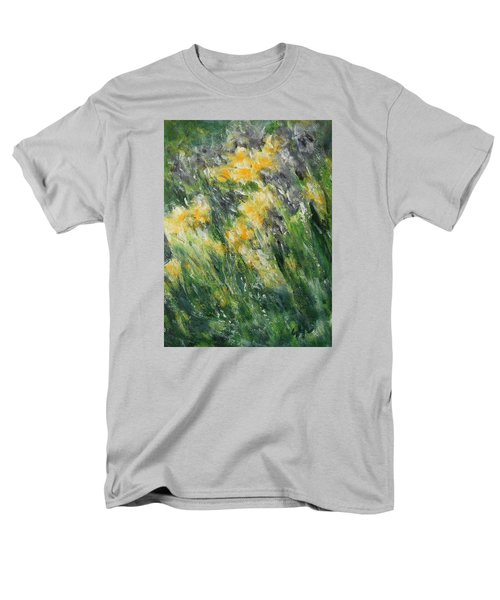 Men's T-Shirt  (Regular Fit) featuring the painting Irises by Jane See