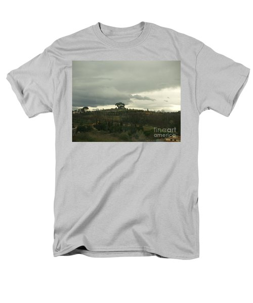 Men's T-Shirt  (Regular Fit) featuring the photograph Italian Hillside by Robin Maria Pedrero