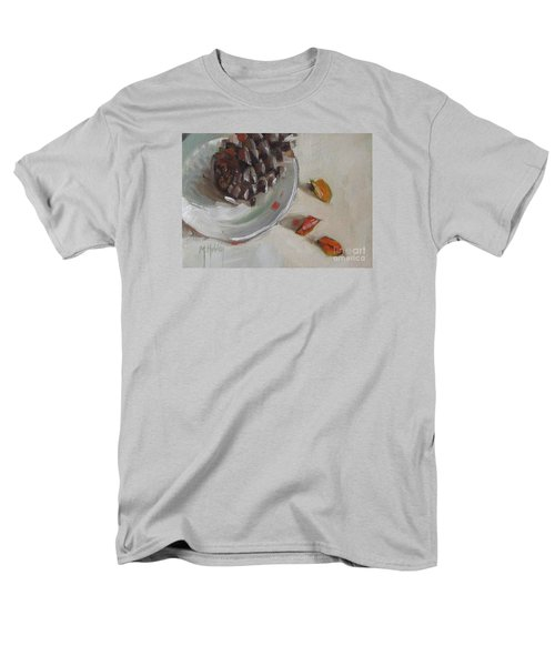 Pine Cone Still Life On A Plate Men's T-Shirt  (Regular Fit) by Mary Hubley