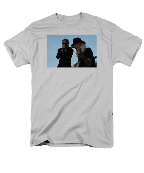 Men's T-Shirt  (Regular Fit) featuring the photograph Johnny Winter And James Montgomery Playing The Blues by Mike Martin