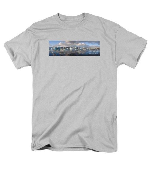 Jokulsarlon Glacier Lagoon Panorama Men's T-Shirt  (Regular Fit)