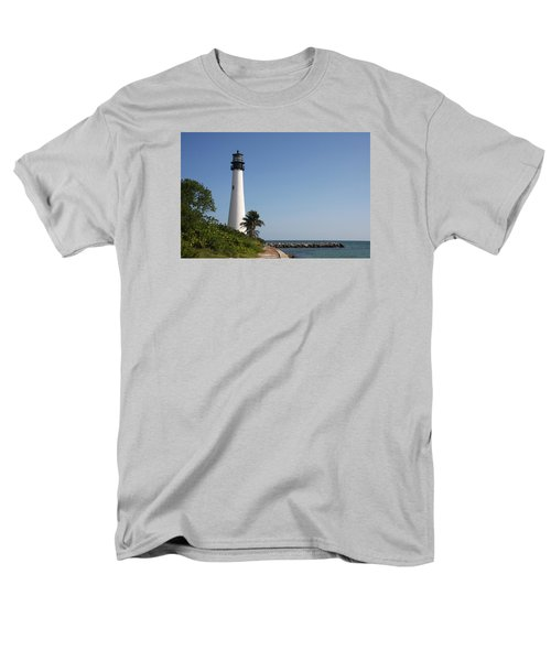 Key Biscayne Lighthouse Men's T-Shirt  (Regular Fit) by Christiane Schulze Art And Photography