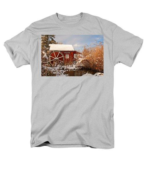 Kimberton Mill After Snow Men's T-Shirt  (Regular Fit) by Michael Porchik