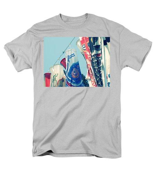 Men's T-Shirt  (Regular Fit) featuring the photograph Koinobori Flags by Rachel Mirror