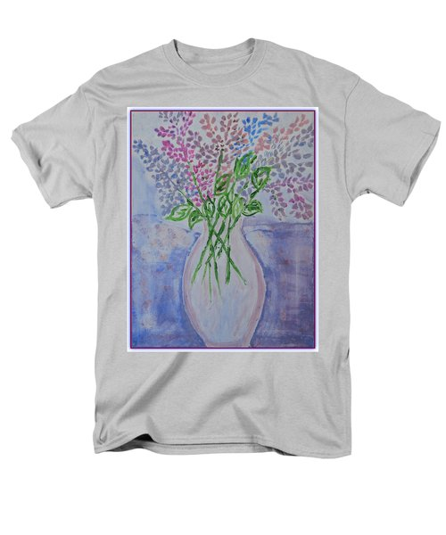 Lavendar  Flowers Men's T-Shirt  (Regular Fit) by Sonali Gangane