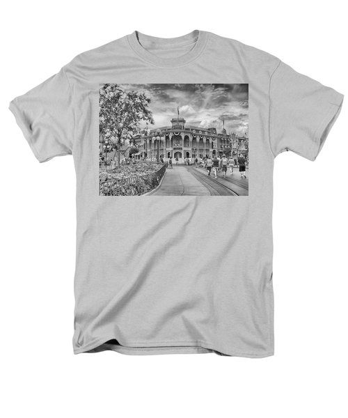 Men's T-Shirt  (Regular Fit) featuring the photograph Life On Main Street by Howard Salmon