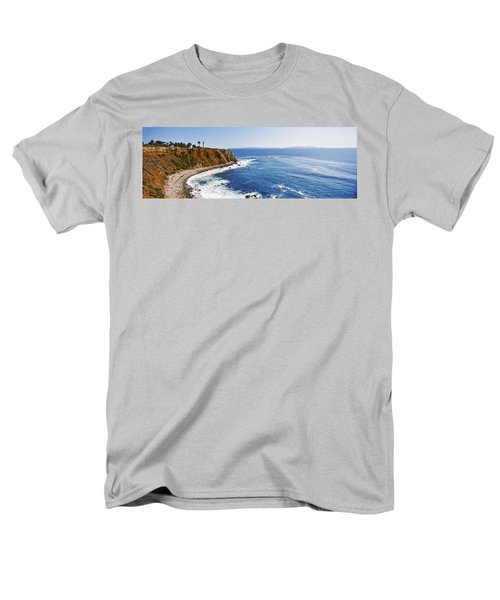 Lighthouse At A Coast, Point Vicente Men's T-Shirt  (Regular Fit) by Panoramic Images