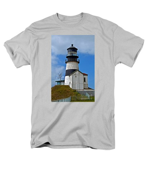Men's T-Shirt  (Regular Fit) featuring the photograph Lighthouse At Cape Disappointment Washington by Valerie Garner