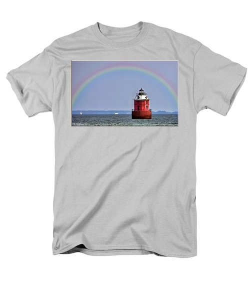 Lighthouse On The Bay Men's T-Shirt  (Regular Fit) by Brian Wallace