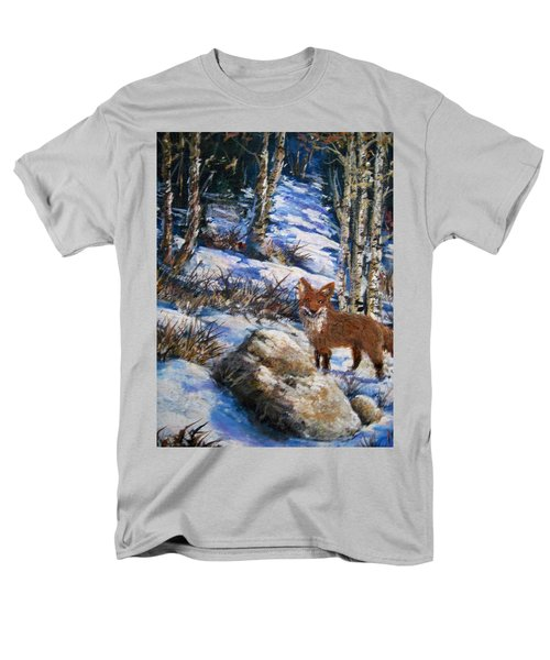 Men's T-Shirt  (Regular Fit) featuring the painting Little Fox by Megan Walsh