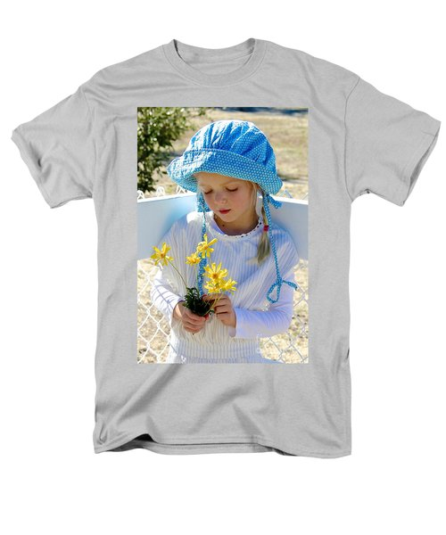 Little Girl Blue  Men's T-Shirt  (Regular Fit) by Suzanne Oesterling