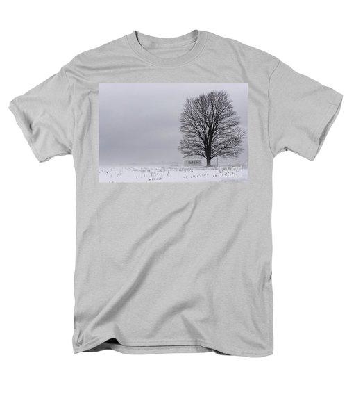 Lone Tree In The Fog Men's T-Shirt  (Regular Fit) by Debra Fedchin