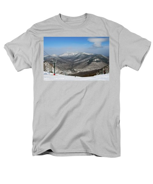 Loon Mountain Ski Resort White Mountains Lincoln Nh Men's T-Shirt  (Regular Fit) by Glenn Gordon