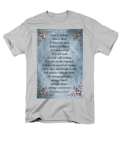 Love Is Patient Clouds Gold Leaf Men's T-Shirt  (Regular Fit)