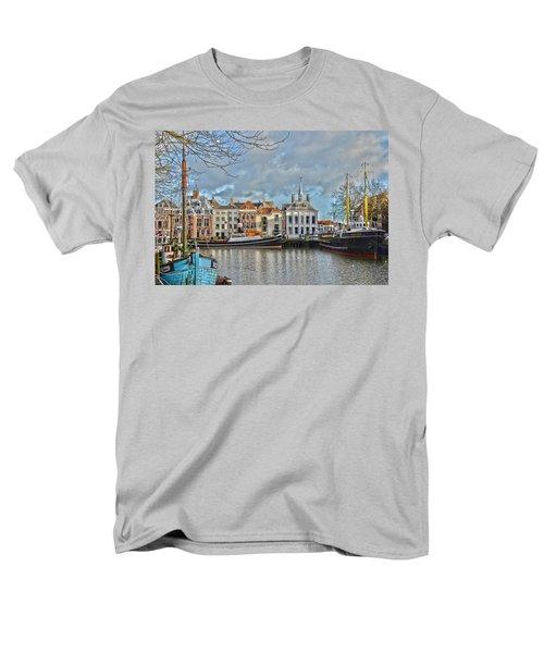Maassluis Harbour Men's T-Shirt  (Regular Fit) by Frans Blok