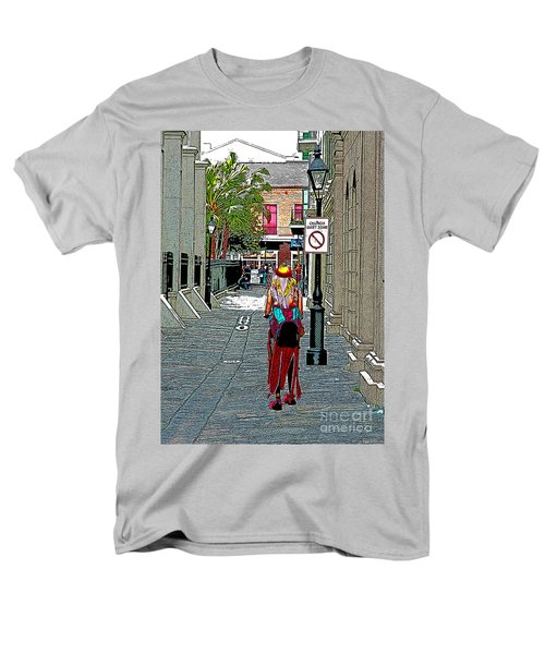 Men's T-Shirt  (Regular Fit) featuring the photograph Mardi Gras In French Quarter by Luana K Perez