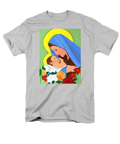 Maria And Baby Jesus Men's T-Shirt  (Regular Fit)