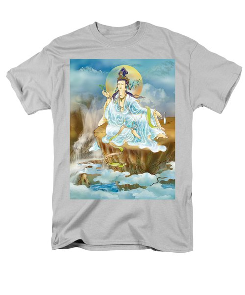 Men's T-Shirt  (Regular Fit) featuring the photograph Merit King Kuan Yin by Lanjee Chee