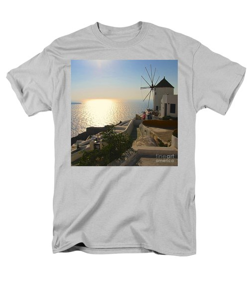 Midday On Santorini Men's T-Shirt  (Regular Fit) by Suzanne Oesterling