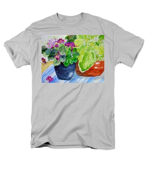 Mimi's Violets Men's T-Shirt  (Regular Fit) by Beverley Harper Tinsley
