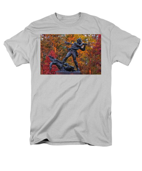 Mississippi At Gettysburg - The Rage Of Battle No. 1 Men's T-Shirt  (Regular Fit) by Michael Mazaika