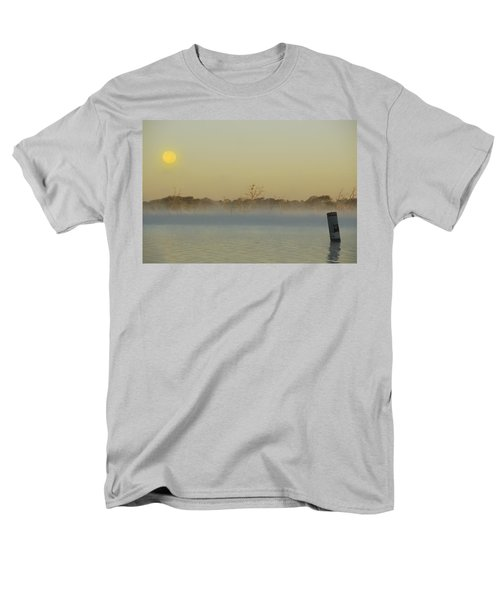 Misty Lake Men's T-Shirt  (Regular Fit) by Charles Beeler