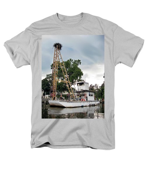 Men's T-Shirt  (Regular Fit) featuring the photograph Mobile Osprey Nest by Brian Wallace