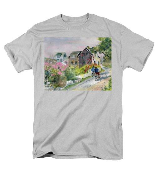 Monhegan In August Men's T-Shirt  (Regular Fit) by Melly Terpening