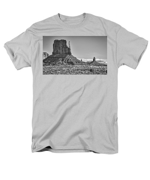 Men's T-Shirt  (Regular Fit) featuring the photograph Monument Valley 3 Bw by Ron White