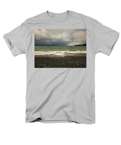 Moody Swirl French Beach Men's T-Shirt  (Regular Fit) by Roxy Hurtubise
