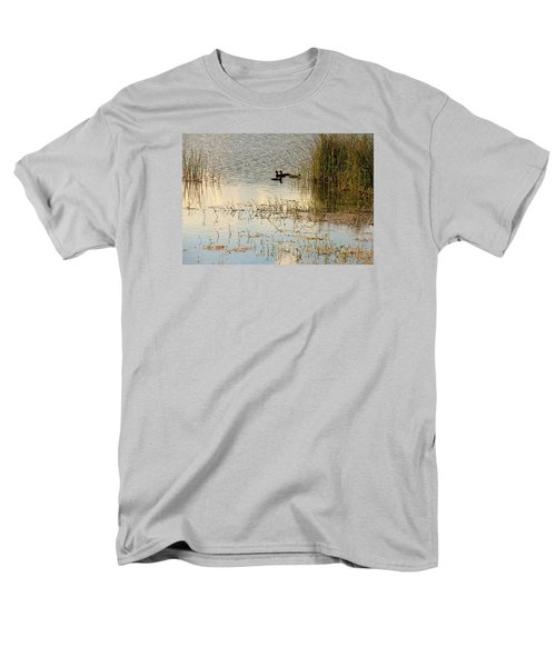 Moorhens In The Marsh Men's T-Shirt  (Regular Fit) by Rosalie Scanlon