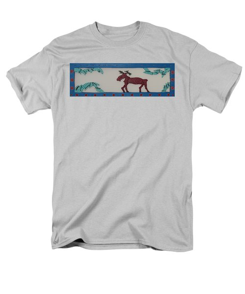 Men's T-Shirt  (Regular Fit) featuring the sculpture Moose Coming Home For Christmas by Robert Margetts