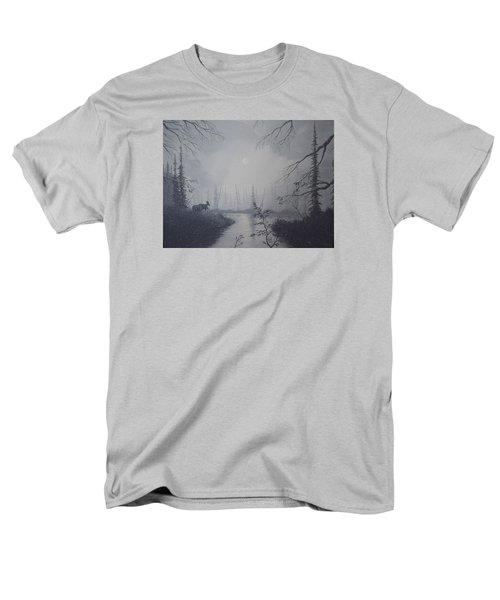 Moose Swanson River Alaska Men's T-Shirt  (Regular Fit) by Richard Faulkner