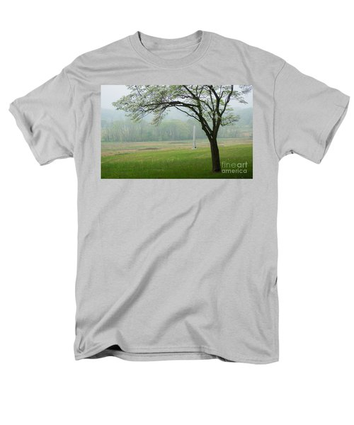 Men's T-Shirt  (Regular Fit) featuring the photograph Morning Fog At The Monument by Rima Biswas
