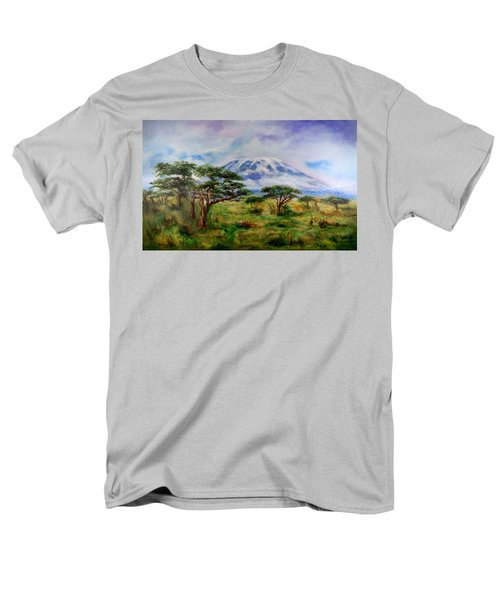 Mount Kilimanjaro Tanzania Men's T-Shirt  (Regular Fit) by Sher Nasser